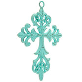 Turquoise Scroll Wall Cross
